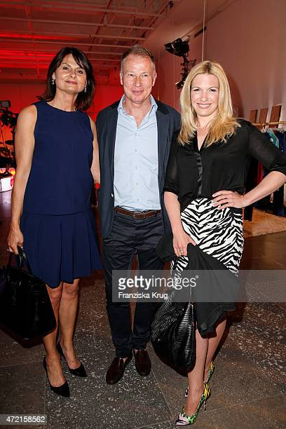 Annette Ruess Stefan Reuter and Jessica Kastrop attend the OTTO Exclusive Sport Cooperation celebrations on May 04 2015 in Munich Germany