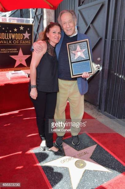 Annette Sahakian Davis and actor George Segal attend George Segal's star ceremony on the Hollywood Walk of Fame on February 14 2017 in Los Angeles...