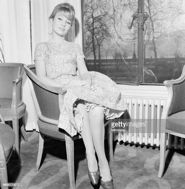 Annette Stroyberg danish actress in London Sunday 14th December 1958 Annette is in the UK for a screen test she is hoping for a role in new film The...