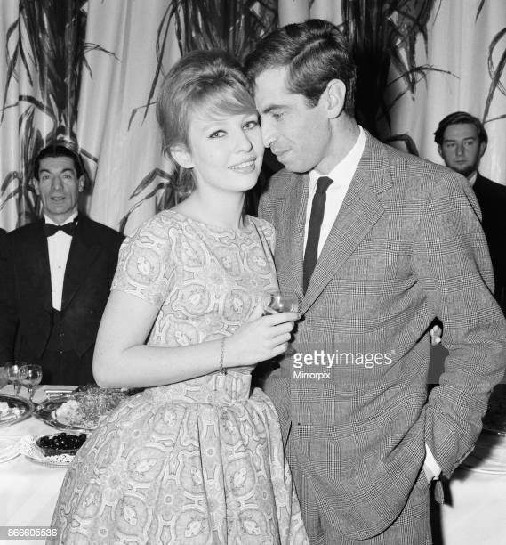 Annette Stroyberg danish actress pictured with fiancee film director Roger Vadim in London Sunday 14th December 1958 Annette is in the UK for a...