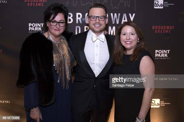 Annette Tanner Adam Sansiveri and Elizabeth Falkner attend the 10th Annual Broadway Dreams Supper at The Plaza Hotel on December 12 2017 in New York...