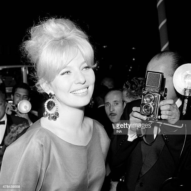 Annette Vadim under the flashes of the photographers during the evening of opening of the Cannes film festival
