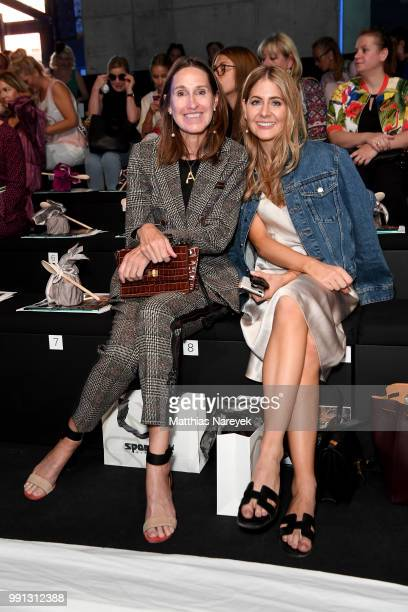 Annette Weber and a guest attend the Sportalm Kitzbuehel show during the Berlin Fashion Week Spring/Summer 2019 at ewerk on July 4 2018 in Berlin...