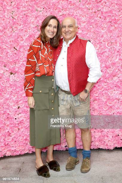 Annette Weber and Axel Munz during the Cathy Hummels by Angermaier collection presentation at Titanic Hotel on July 5 2018 in Berlin Germany