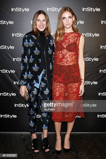 Annette Weber and Chiara Ferragni attend the Instyle Cocktail on January 20 2015 in Berlin Germany