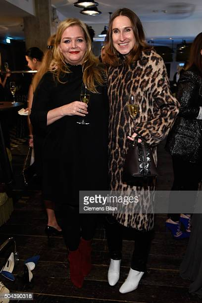 Annette Weber and Ingrid Rose attend E Red Carpet Influencer Suite promoting Live from the Red Carpet on german E Entertainment at Soho House on...