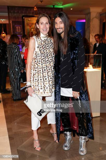 Annette Weber and Julian Daynov during the Grazia Style Cocktail at Titanic Hotel on January 16 2019 in Berlin Germany