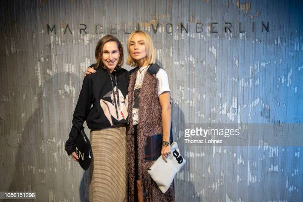 Annette Weber and Victoria Rader attend the Marcell von Berlin Pop Up Store Opening Party Goethestrasse on November 1 2018 in Frankfurt am Main...