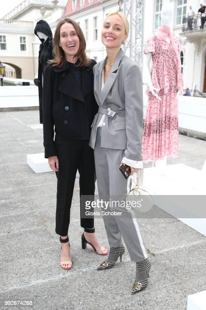 Annette Weber and Viktoria Rader during the Strenesse presentation as part of Der Berliner Salon Spring/Summer 2019 at Kronprinzenpalais on July 6...