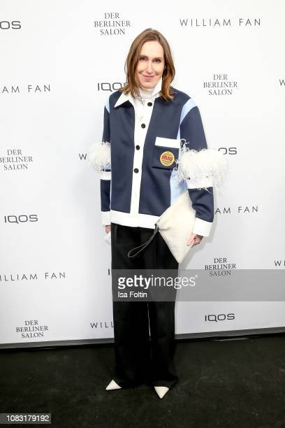 Annette Weber arrives at the William Fan Defile during 'Der Berliner Salon' Autumn/Winter 2019 at Knutschfleck on January 15 2019 in Berlin Germany