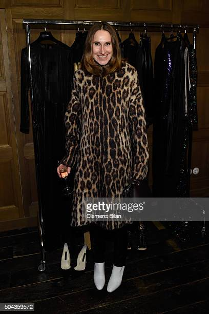 Annette Weber attends E Red Carpet Influencer Suite promoting Live from the Red Carpet on german E Entertainment at Soho House on January 10 2016 in...