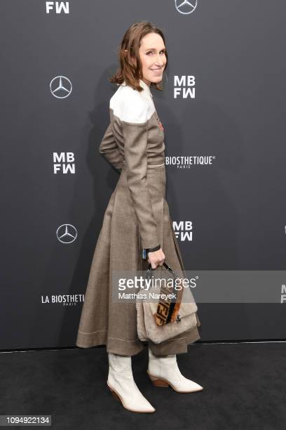 Annette Weber attends the Rebekka Ruetz show during the Berlin Fashion Week Autumn/Winter 2019 at ewerk on January 16 2019 in Berlin Germany