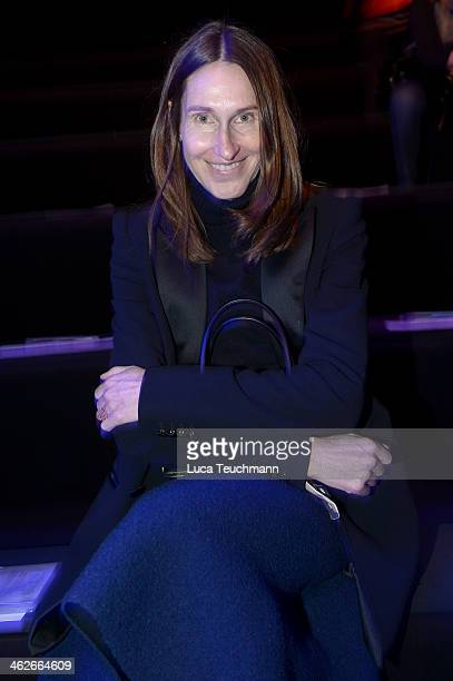 Annette Weber attends the Riani show during MercedesBenz Fashion Week Autumn/Winter 2014/15 at Brandenburg Gate on January 14 2014 in Berlin Germany
