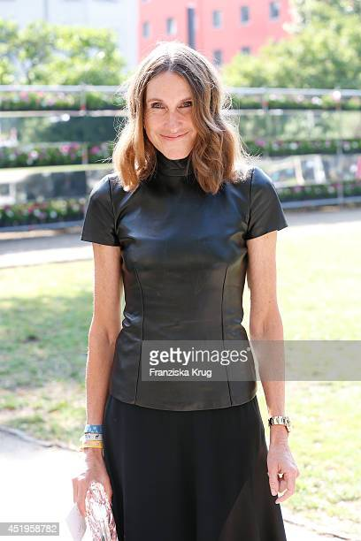 Annette Weber attends the Schumacher show during the MercedesBenz Fashion Week Spring/Summer 2015 at Sankt Elisabeth Kirche on July 10 2014 in Berlin...