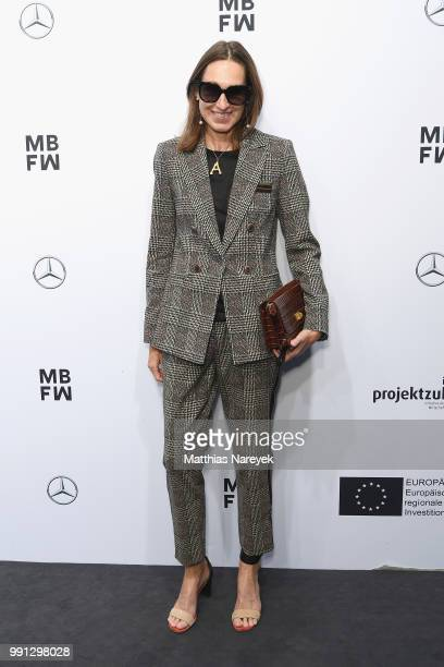 Annette Weber attends the Sportalm Kitzbuehel show during the Berlin Fashion Week Spring/Summer 2019 at ewerk on July 4 2018 in Berlin Germany