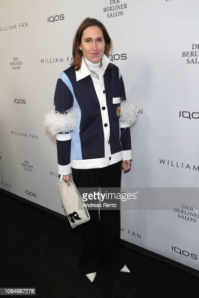 Annette Weber attends the William Fan Defile during 'Der Berliner Salon' Autumn/Winter 2019 at Knutschfleck on January 15 2019 in Berlin Germany