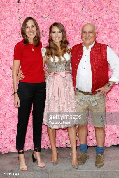 Annette Weber Cathy Hummels and Axel Munz during the Cathy Hummels by Angermaier collection presentation at Titanic Hotel on July 5 2018 in Berlin...