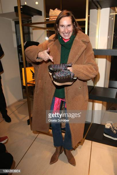 Annette Weber during the Hogan Munich BTQ Cocktail on November 22 2018 at the Hogan Boutique in Munich Germany
