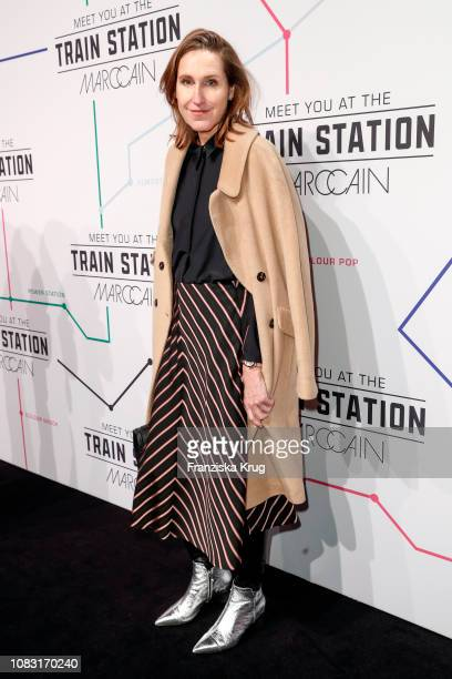 Annette Weber during the Marc Cain Fashion Show Autumn/Winter 2019 at Deutsche Telekom's representative office on January 15 2019 in Berlin Germany