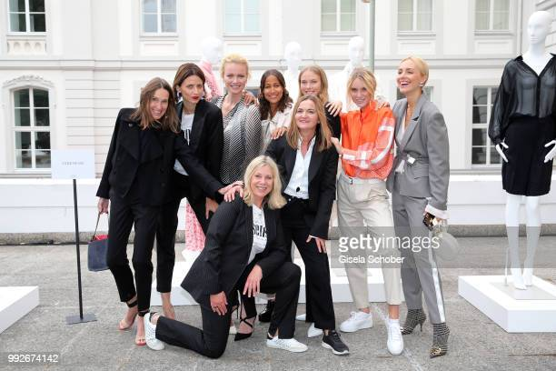 Annette Weber Eva Padberg Franziska Knuppe Rabea Schif Nina Hnizdo Kim Hnizdo Viktoria Rader and first row Micaela Sabatier CEO Strenesse and Eva...