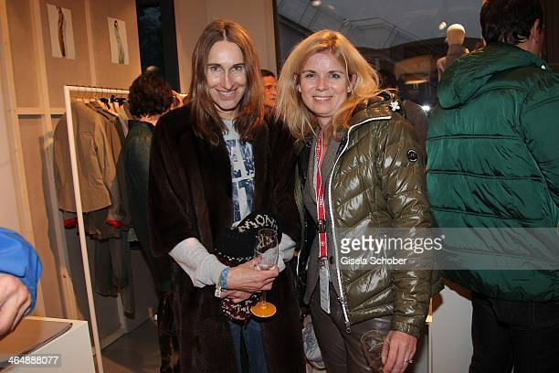 Annette Weber InStyle Manuela Kampp Wirtz attend Clicquot in the Snow on January 24 2014 in Kitzbuehel Austria