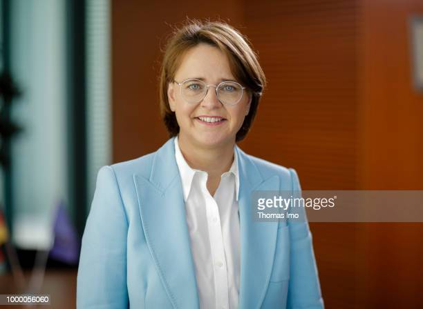 Annette WidmannMauz CDU Federal Commissioner for Migration Refugees and Integration is pictured during an interview in the German Chancellory on May...