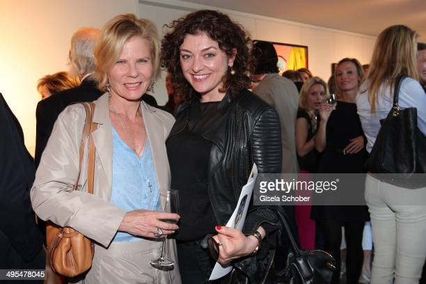 Annette Zierer and Nahid Shahalimi attend the Mauro Bergonzoli Exhibition 'Selected Works' at Hubert Burda Media Communication Highway on June 3 2014...