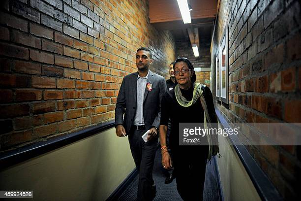 Anni Dewanis brother Anish Hindocha arrives for a media briefing on December 3 2014 at the Cape Town Lodge Hotel in Cape Town South Africa An...