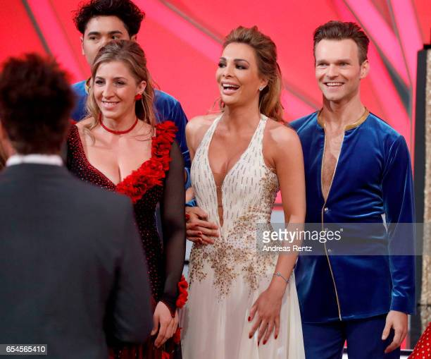 Anni FriesingerPostma Chiara Ohoven and Vadim Garbuzov are seen on stage during the 1st show of the tenth season of the television competition 'Let's...
