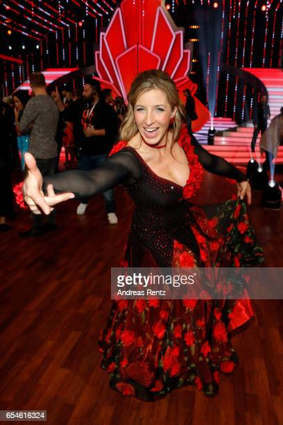 Anni FriesingerPostma pose after the 1st show of the tenth season of the television competition 'Let's Dance' on March 17 2017 in Cologne Germany