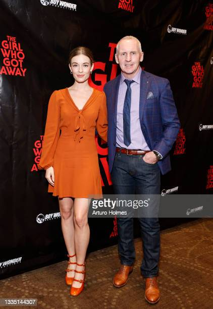 Anni Krueger and Michael Morrissey attend The Girl Who Got Away Film Premiere at AMC Theater on August 19, 2021 in New York City.