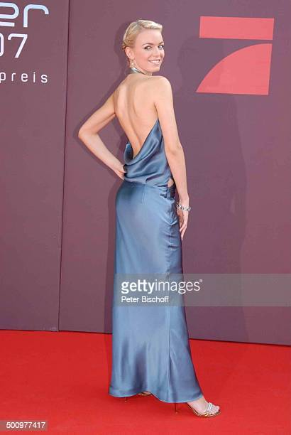 """Anni , Verleihung, Gala Bayerischer Fernsehpreis 2007, Preis: """"Der Blaue Panther"""", Prinzregententheater, München, Bayern, Deutschland, roter Teppich,..."""