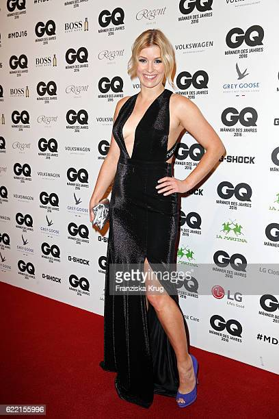 Annica Hansen arrives at the GQ Men of the year Award 2016 at Komische Oper on November 10 2016 in Berlin Germany