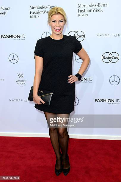 Annica Hansen attends the Riani show during the MercedesBenz Fashion Week Berlin Autumn/Winter 2016 at Brandenburg Gate on January 19 2016 in Berlin...