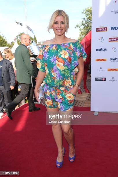 Annica Hansen during the media night of the CHIO 2017 on July 18 2017 in Aachen Germany
