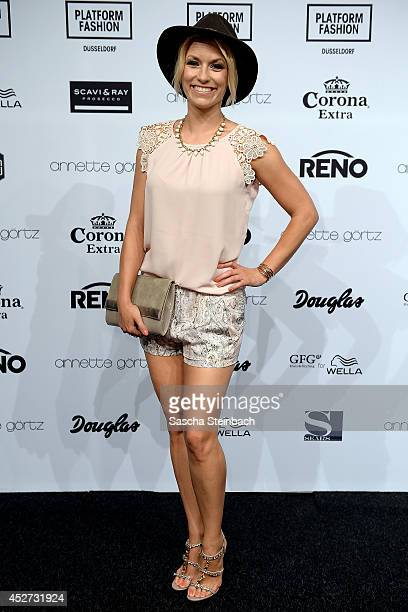 Annica Hansen poses prior to the Annette Goertz Show during Platform Fashion Duesseldorf on July 26 2014 in Duesseldorf Germany