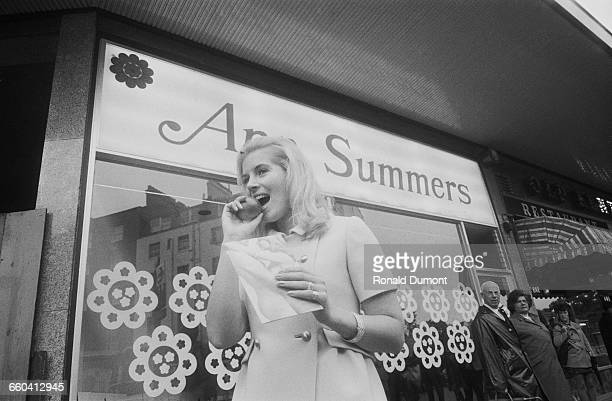 Annice Summers nee Goodwin opens an Ann Summers sex shop in the Edgware Road London 9th September 1970 She is the secretary of Ann Summers founder...
