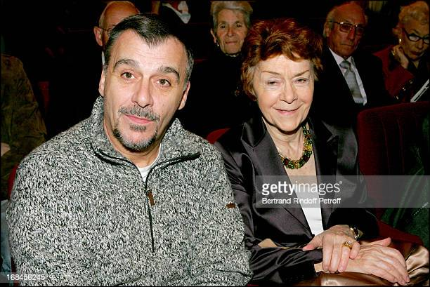 Annick Alane and son Bernard at 'Amities Sinceres' Performed By Bernard Murat And Michel Leeb At Edward VII Theatre