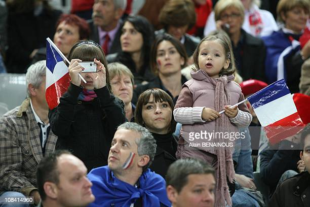 Annick Sebastien Chabal's wife in Paris France on October 13th 2007