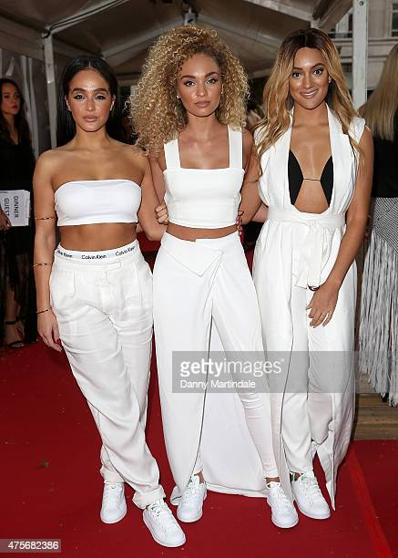 Annie Ashcroft Frankee Connolly and Nadine Samuels from MO attends the Glamour Women Of The Year Awards at Berkeley Square Gardens on June 2 2015 in...