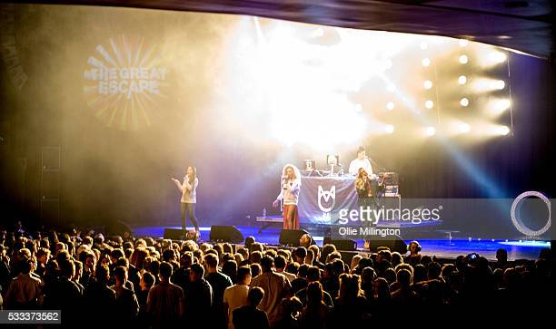 Annie Ashcroft Frankee Connolly and Nadine Samuels of MO perform onstage at The Brighton Dome on Day 3 of The Great Escape 2016 on May 21 2016 in...