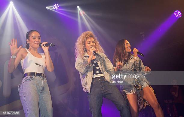 Annie Ashcroft Frankee Connolly and Nadine Samuels of MOperforms at GAY on August 23 2014 in London England