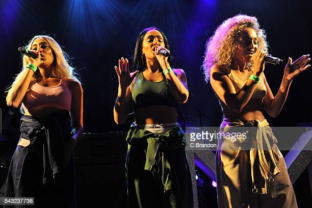 Annie Ashcroft Nadine Samuels and Frankie Connolly of MO perform on stage at KOKO on June 26 2016 in London England