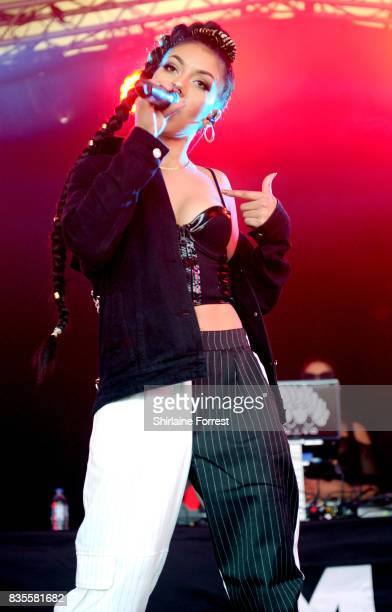 Annie Ashcroft of MO performs live on stage during V Festival 2017 at Weston Park on August 19 2017 in Stafford England