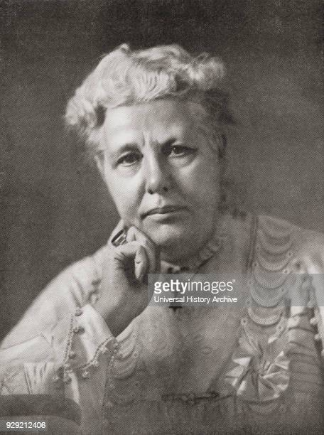 Annie Besant 1847 – 1933 British Theosophist women's rights activist writer orator and supporter of Irish and Indian self rule From Bibby's Annual...