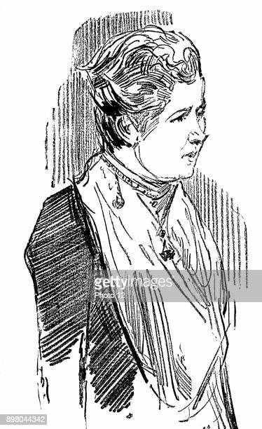 Annie Besant British socialist and theosophist Wood engraving 1890
