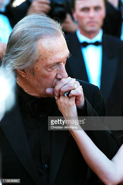 Annie Bierman and David Carradine during 2004 Cannes Film Festival 'The Life and Death of Peter Sellers' Premiere in Cannes France