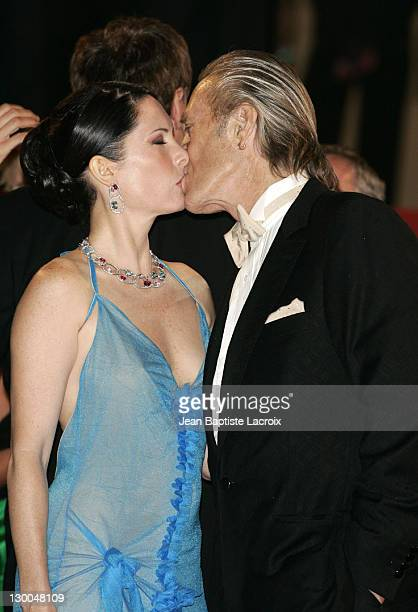 Annie Bierman and David Carradine during 2004 Cannes Film Festival 'Kill Bill Vol 2' Premiere at Palais Du Festival in Cannes France