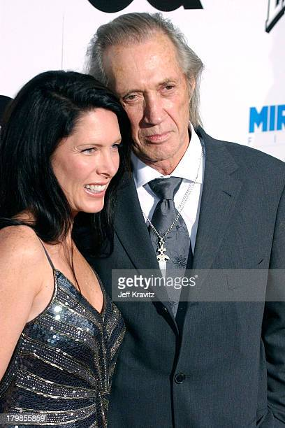 Annie Bierman and David Carradine during Kill Bill Vol 2 World Premiere Red Carpet at Arclight Cinerama Dome in Los Angeles California United States