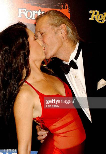 Annie Bierman and David Carradine during 'Kill Bill Vol2' Madrid Premiere at Capitol Cinema in Madrid Spain